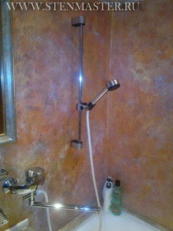 Акриловая декоративная штукатурка в ванной,фото
