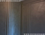 Декоративная краска,окраска кабинета