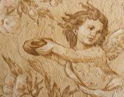 Ангел,трафарет из декоративной штукатурки,фото