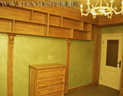 Декоративная краска в кабинете,фото