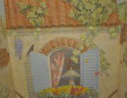 Роспись стен на лестничном марше,фото