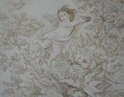 """Роспись стен по декоративной штукатурке""""Ангел""""фото"""