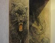 """""""Пантера""""декоративное панно,фото"""