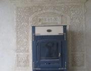 Декоративное панно вокруг камина,фото