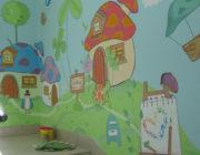 Роспись стен в детской комнате,фото