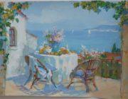 """Роспись стен """"Завтрак у моря""""фото"""