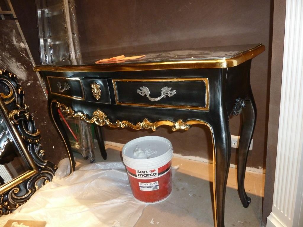 Нанесение сусального золота,позолота предметов мебели,фото