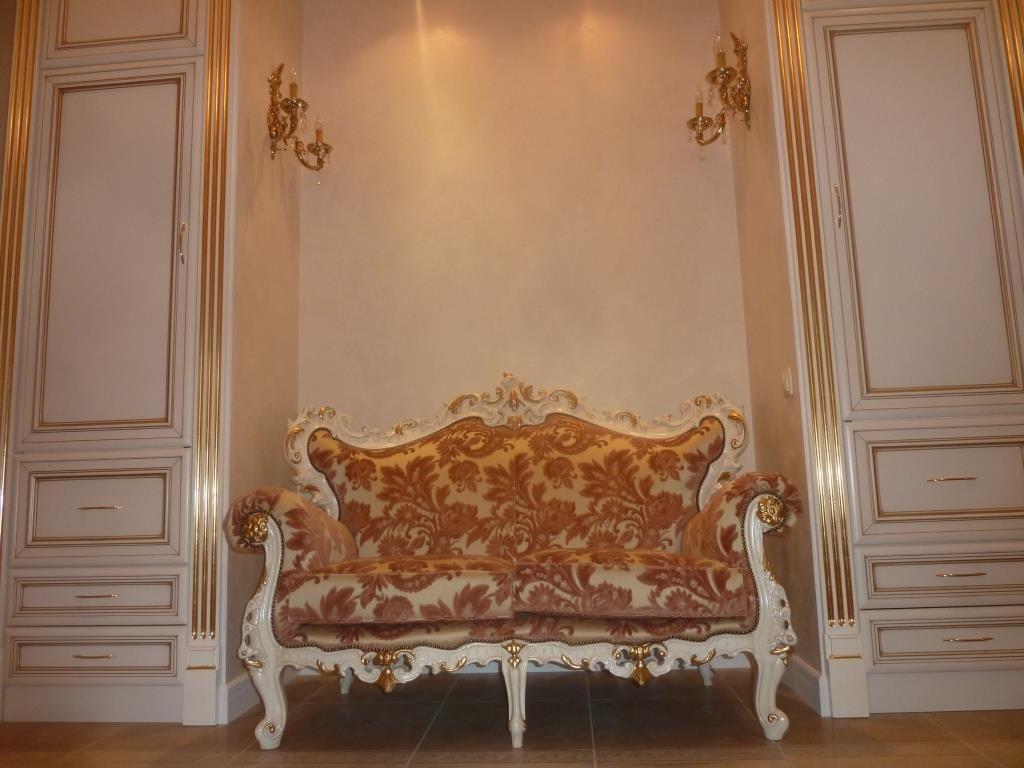 Золочение сусальным золотом,предметов мебели,фото
