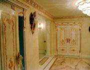 Позолота,декоративных элементов дверей,фото