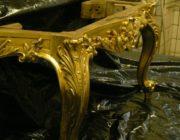 Позолота и реставрация предметов мебели,фото