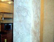 Декоративное панно нанесение на колонну,фото