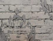 Трафарет из фактурной штукатурки,фото