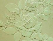 """Трафарет """"Розы""""из декоративной штукатурки,фото"""