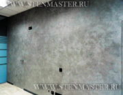 Венецианская штукатура под чёрный мрамор,фото