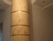 Венецианская штукатурка на колонне,фото