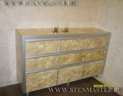 Нанесение венецианской штукатурки на предметы мебели,фото