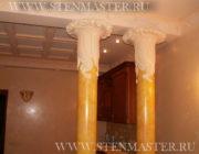 Венецианская штукатурка нанесение на колонны,фото