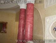 Венецианская штукатурка на колоннах,фото