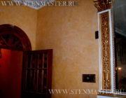 Венецианская штукатурка ,нанесение вокруг камина,фото