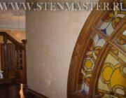 Венецианская штукатурка с прожилками под мрамор,фото объекта