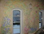 Роспись стен в загородном доме,фото